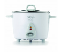 14 Cup White Simply Stainless Pot Style Rice Cooker