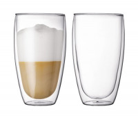 Glass, double wall, large, 0.45 l, 15 oz