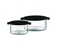 2 pcs bowl with lid, 1.0 l, 34 oz - 2.5 l, 85 oz