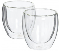 Glass, double wall, small, 0.25 l, 8 oz