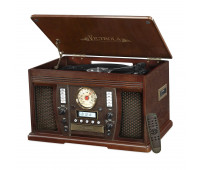 Aviator with Bluetooth Recordable 7-in-1 Wooden Music Center
