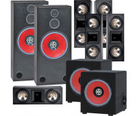 BIC America RTR-1530 7.2 Home Theater System with 5 FH6-LCR + 2 RTR-EV1200