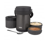 Thermos - All-In-One Vacuum Insulated Stainless Steel Meal Carrier with Spoon, Smoke